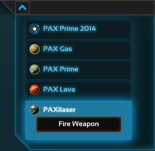 Fire weapon button for Annihilaser