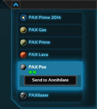 Send to Annihilate button