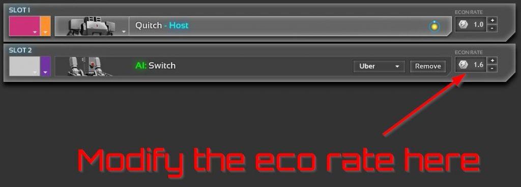 Modifying the eco rate